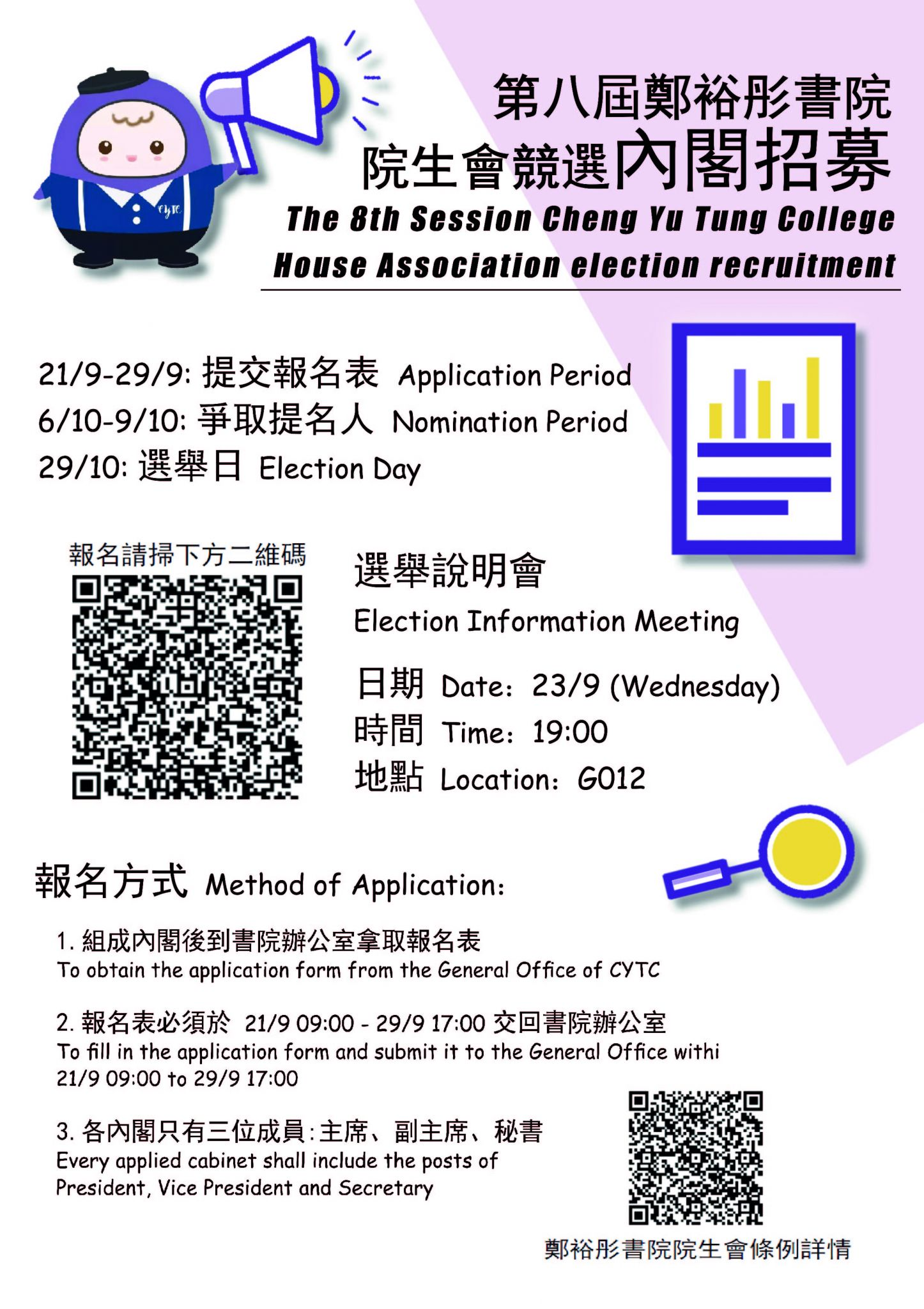 """CYTC Activity: Election Information Meeting for """"The 8th Session CYTC HA Election Recruitment"""""""
